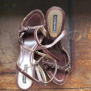 Claudia Ciuti Wedge Vintage Sandal 40